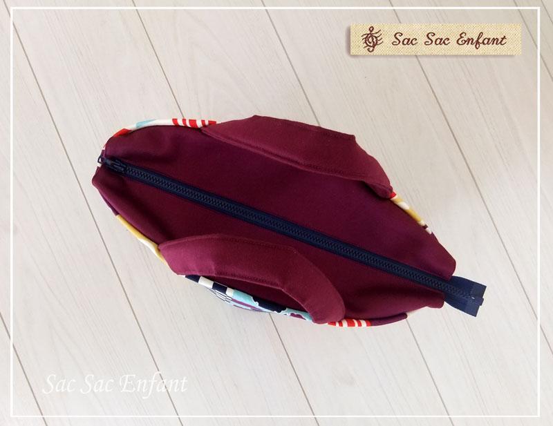画像3: Sac de panier サックドパニエ(カゴ型バッグ)Wa-Retro(和レトロ)パープル S・ファスナー