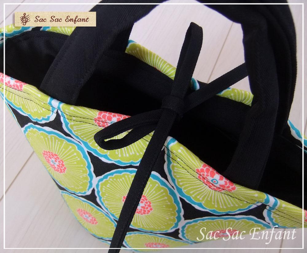 画像3: Sac de panier サックドパニエ(カゴ型バッグ)KiKu-retro (キク・レトロ)ブラック SSサイズ